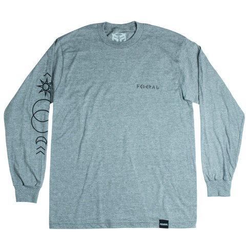 Federal Perrin L/S T-Shirt - Graphite Grey