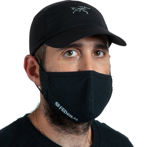 Federal Embroidered Mask - Black