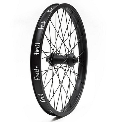 "Fiend Cab Flangeless Front Wheel - Black 10mm (3/8"") at . Quality Front Wheels from Waller BMX."