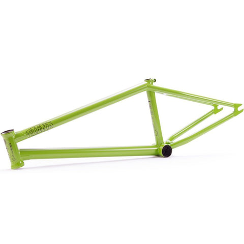 Fiend Palmere V3 Brakeless Frame - Matt Macha Green at 289.99. Quality Frames from Waller BMX.