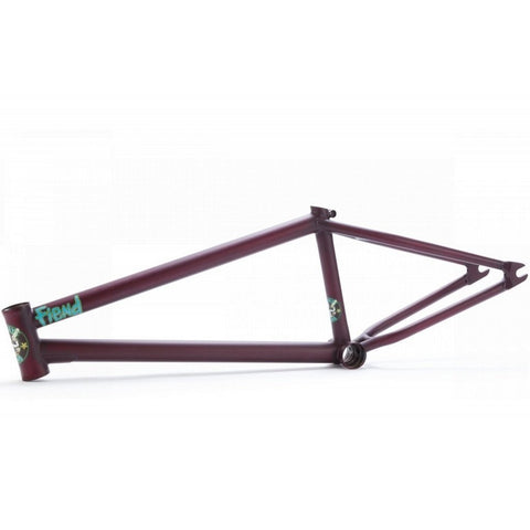 Fiend Reynolds V2 Brakeless Frame - Flat Trans Merlot at 289.99. Quality Frames from Waller BMX.