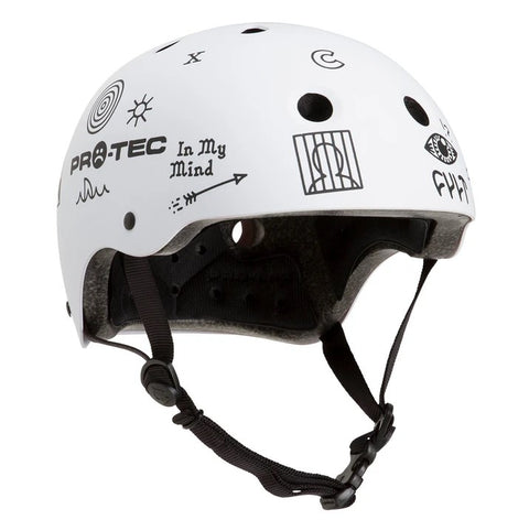 Pro-Tec X Cult Collaboration Classic Certified Helmet - Matt White
