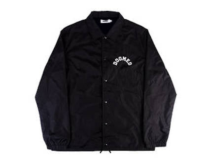 Doomed Coach Jacket Black