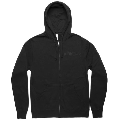 Kink Blackout Zip Up Hoodie - Black