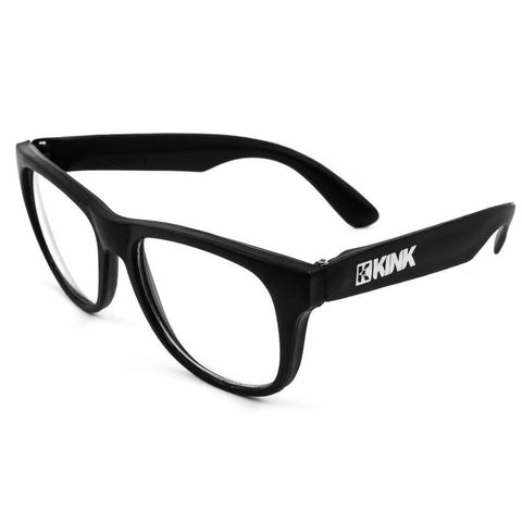 Kink Sunglasses - Black With Clear Lenses at . Quality Sunglasses from Waller BMX.