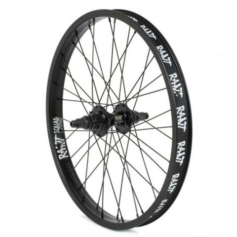 Rant LHD Party On V2 Cassette Rear Wheel - Black 9 Tooth at . Quality Rear Wheels from Waller BMX.
