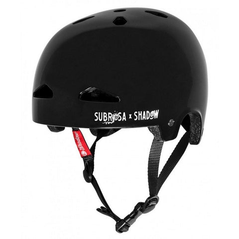 Shadow X Subrosa Feather Weight In-Mold Helmet - Gloss Black at 53.99. Quality Helmets from Waller BMX.