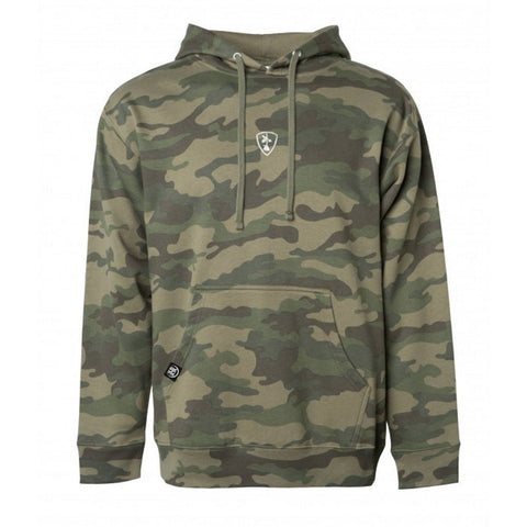 Subrosa Shield Hooded Sweatshirt - Camo at 54.99. Quality Hoodies and Sweatshirts from Waller BMX.
