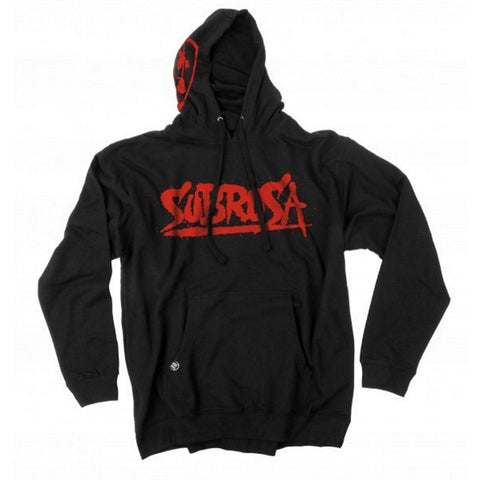 Subrosa Splattered Hooded Sweat - Black at 53.99. Quality Hoodies and Sweatshirts from Waller BMX.