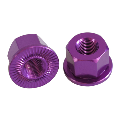 Savage 14mm Alloy Axle Nuts Purple