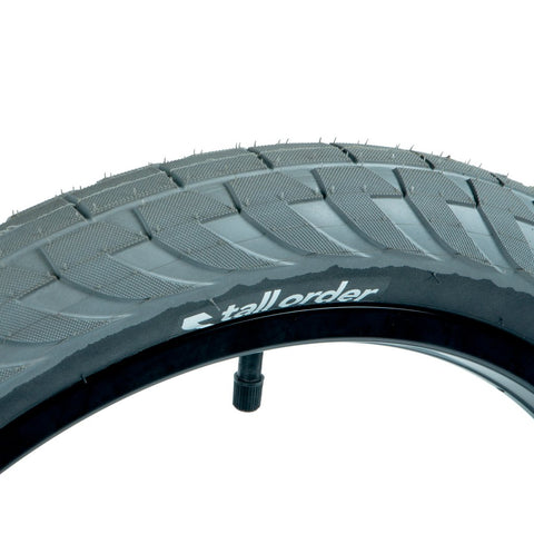 Tall Order Wallride Tyre - Grey With Black Sidewalls 2.35""