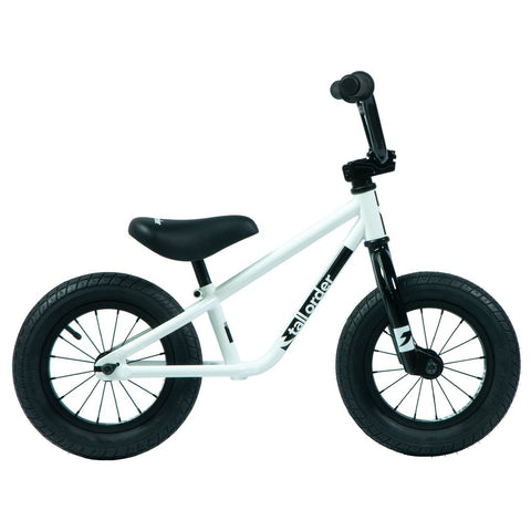 Tall Order Small Order Balance Bike - Gloss White With Black Parts 12""