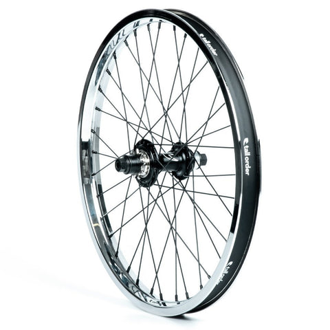 Tall Order Dynamics RHD Cassette Wheel - Black With Chrome Rim 9 Tooth at . Quality Rear Wheels from Waller BMX.