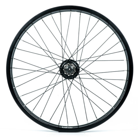 Tall Order Dynamics RHD Cassette Wheel - Black With Silver Spoke Nipples 9 Tooth at . Quality Rear Wheels from Waller BMX.