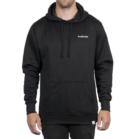 Tall Order Logo Poly-Tech Hooded Sweatshirt - Black at 43.49. Quality Hoodies and Sweatshirts from Waller BMX.