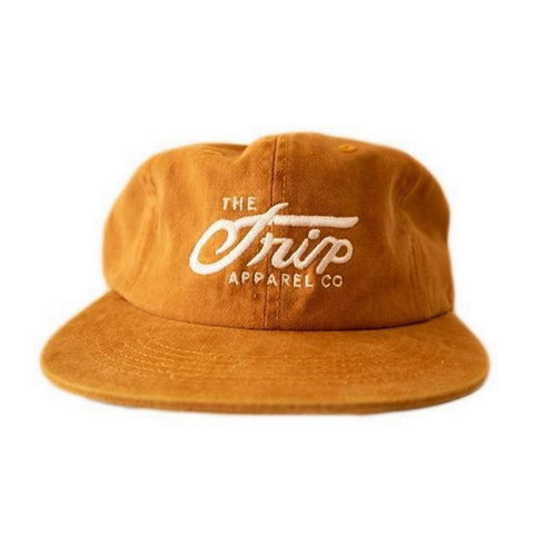 The Trip Script 6 Panel Cap - Mustard at . Quality Hats and Beanies from Waller BMX.