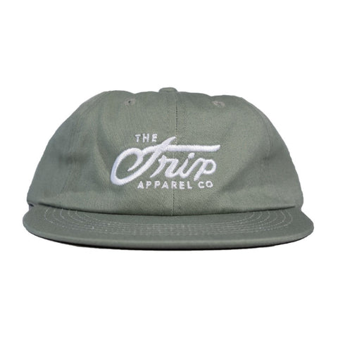 The Trip Script 6 Panel Cap - Teal at . Quality Hats and Beanies from Waller BMX.