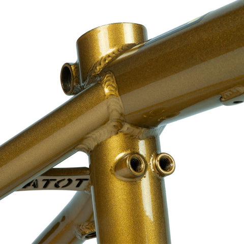 "Total BMX Killabee K4 18"" Frame - Metallic Gold 18"" at . Quality Frames from Waller BMX."