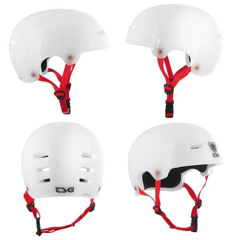TSG Evolution Helmet - Clear White at 47.24. Quality Helmets from Waller BMX.