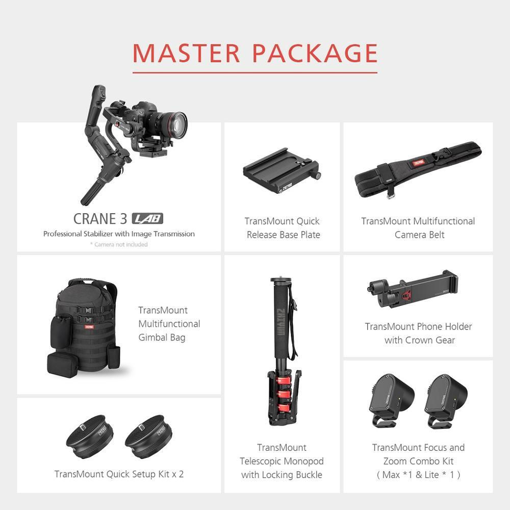 ZHIYUN GIMBAL FOR DSLR & MIRRORLESS CAMERA - MASTER PACK INCLUDES GIMBAL + ALL ACCESSORIES