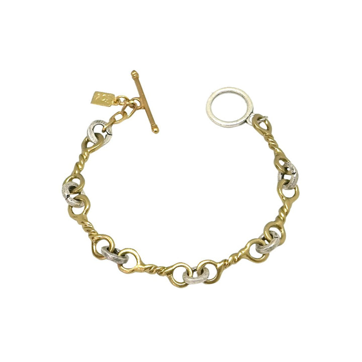 Tat2 GOLD TWISTED RING BRACELET