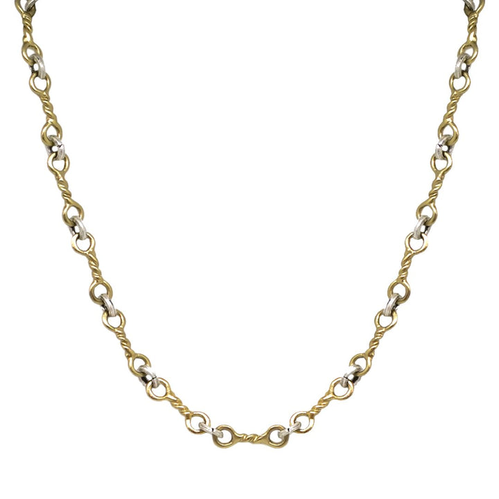 Tat2 GOLD TWISTED RING NECKLACE
