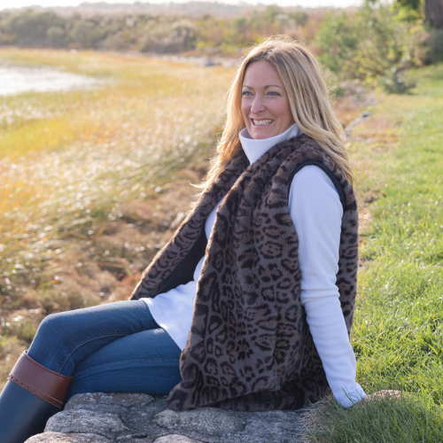 Pretty Rugged Gear leopard reversible vest