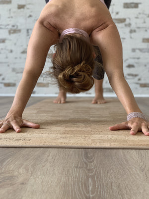 Load image into Gallery viewer, AHIMSA - More Comfort Solid Cork Yoga Mat | 6.5 mm