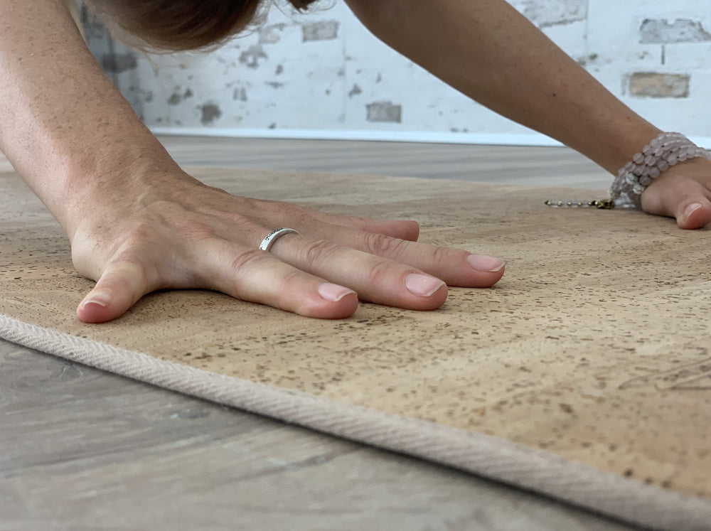 Load image into Gallery viewer, AHIMSA - More Comfort Solid Cork Yoga Mat | 6 mm