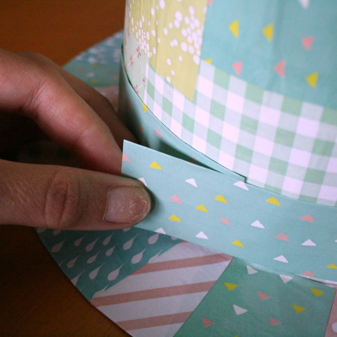 mad hatter easter bonnet - paper ribbon