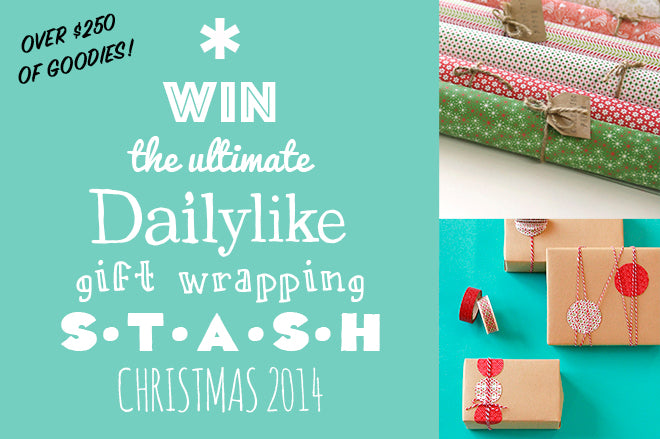 Win the ultimate Dailylike Gift Wrapping Stash