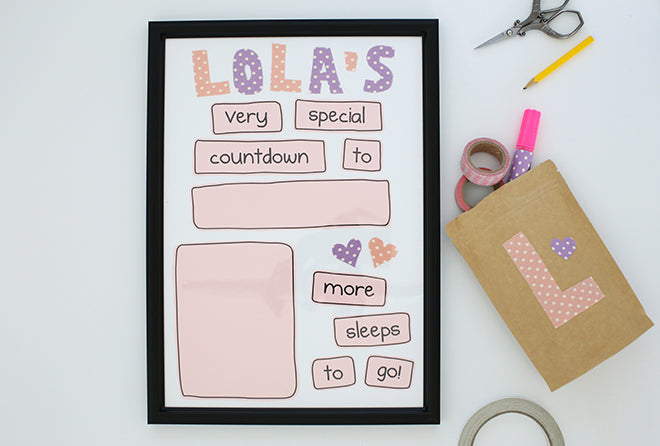 Dailylike Countdown Frame DIY Project