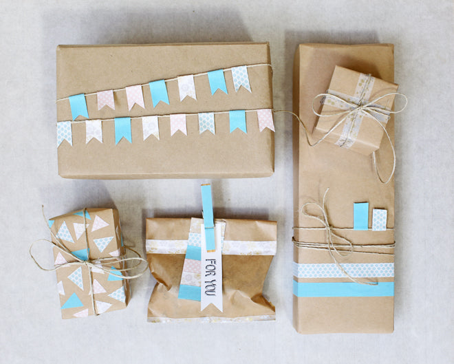 Dailylike Gift Wrapping with Fabric Tape