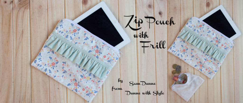 Dailylike Zip Pouch with Frill by Dunne with Style