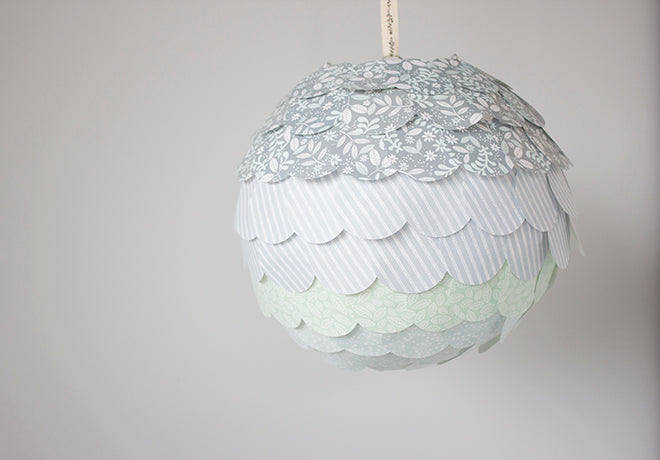 Scalloped Lantern by Sam Dunne of Dunne with Style for Dailylike Australia