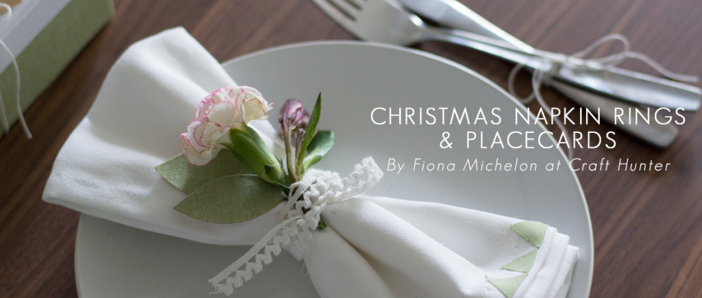 Christmas Napkin Rings & Placecards by Craft Hunter for Dailylike