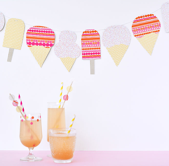 dailylike craft hunter diy icecream garland