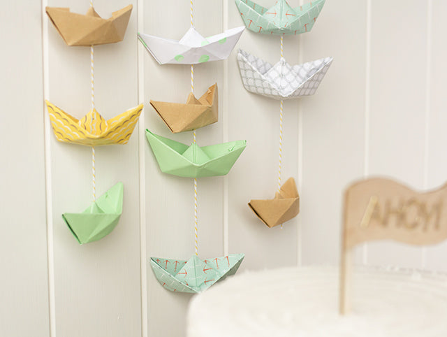 Paper Boat Garland by Craft Hunter for Sweet Magazine with Dailylike papers