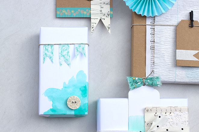 Watercolour Gift Wrapping by Dunne With Style
