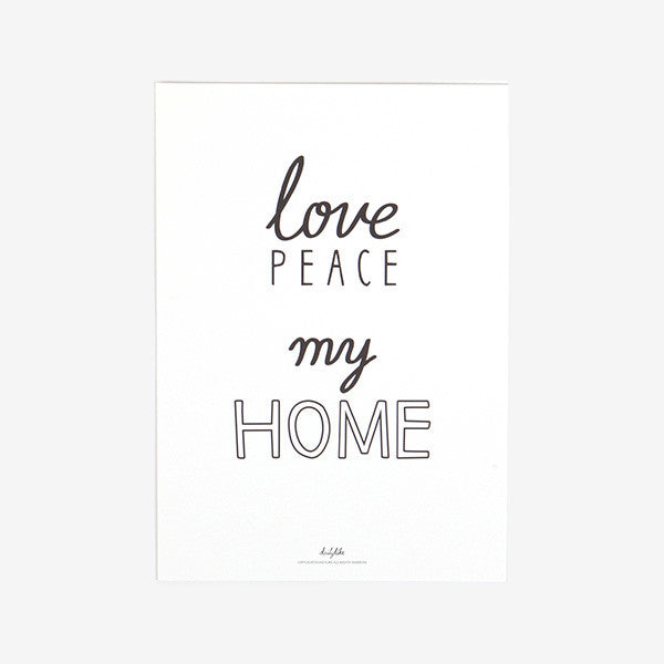 Quote Poster : My Home
