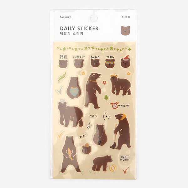 Daily Stickers - Bear