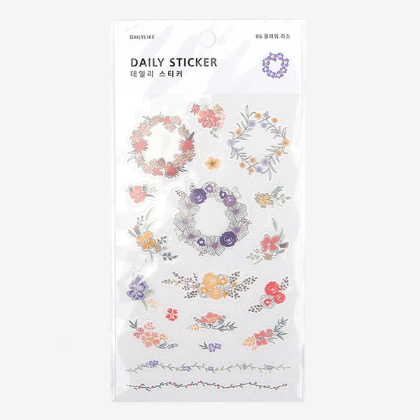 Daily Stickers - Floral Wreaths