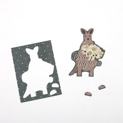 Animal Ornament Card : Kangaroo