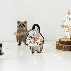 Animal Ornament Card : Penguin