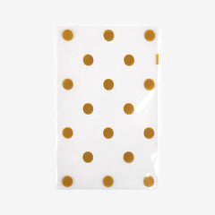 Clear Bags Small : Gold Dot - 10pk