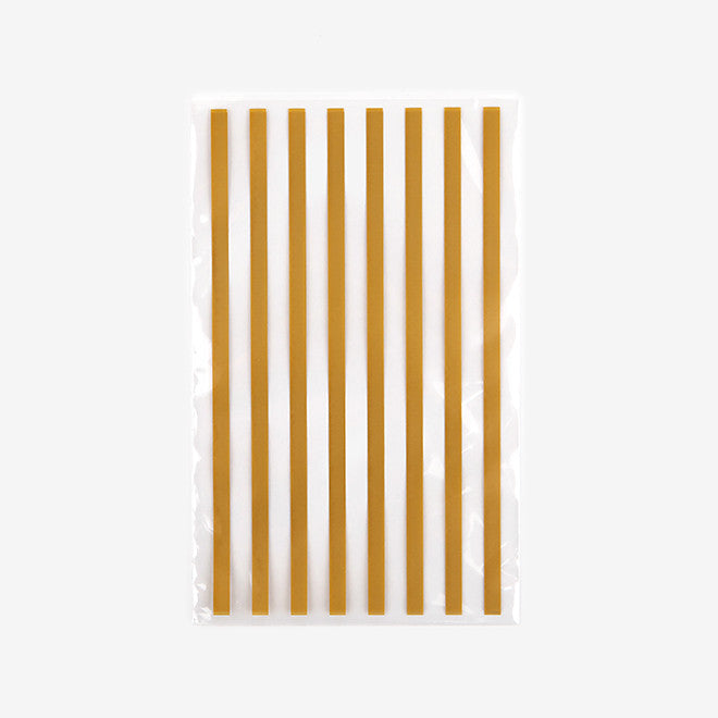 Clear Bags Small : Gold Stripe - 10pk