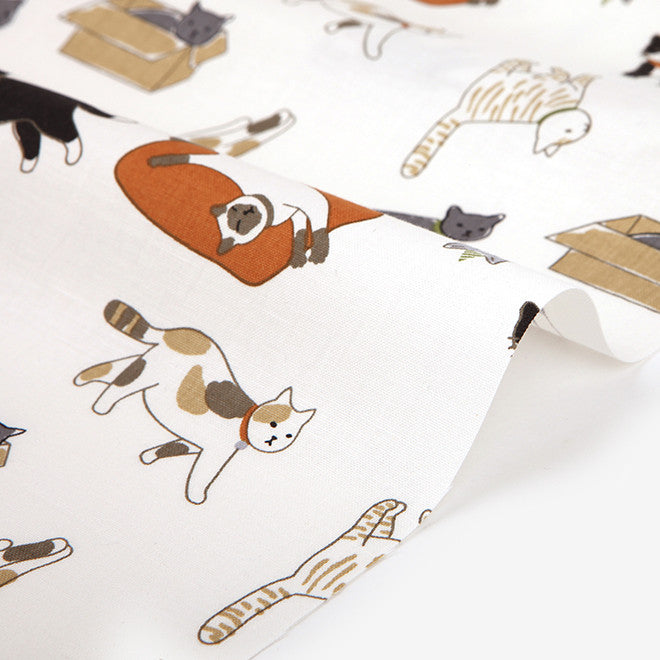 335 Play With Me (Cats) 1100mm Cotton 20C Fabric