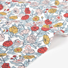 313 Flower Bed : Full Bloom 1100mm Cotton 20C Fabric