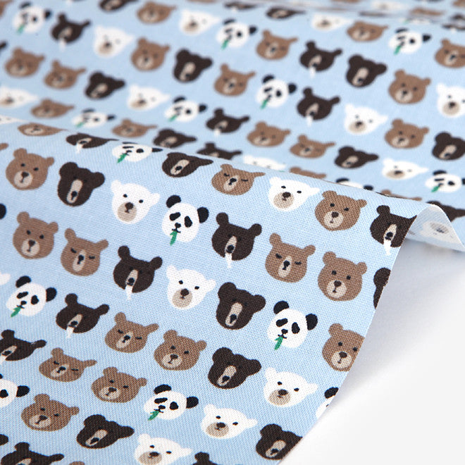 425 My Friends : Bear 1100mm Cotton 20C Fabric