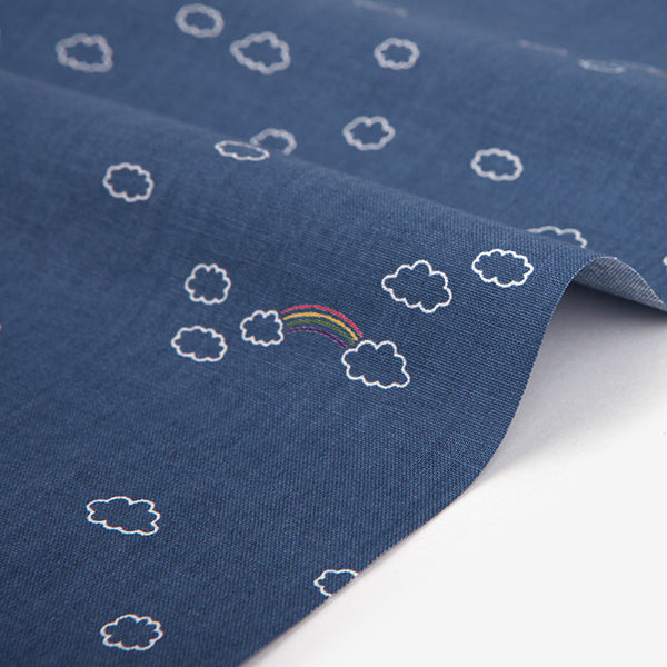 341 Rainy Day : Rainbow 1100mm Cotton 20C Fabric